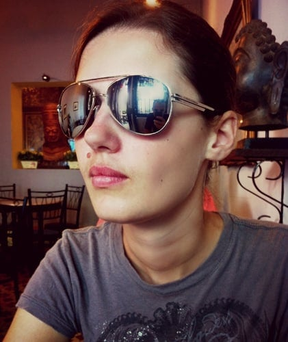 Cool reflective aviator sunglasses