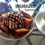 Banana Samosas with Ice cream