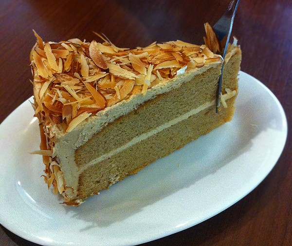 Slice of Coffee Almond Cake