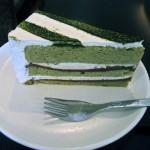Matcha Red Bean Paste Cake