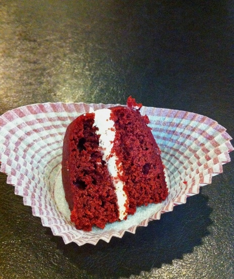 Wedge of a Red Velvet Whoopie Pie