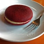 Red Velvet Whoopie Pie on a Plate