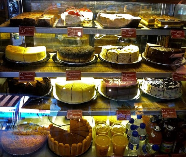 Cake Selection at Coffee Bean