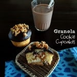 Cookie bottomed cupcakes with granola center