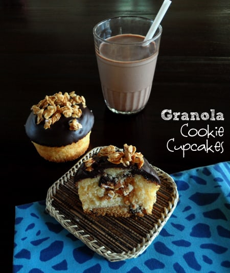 Cookie Cupcake half on Plate