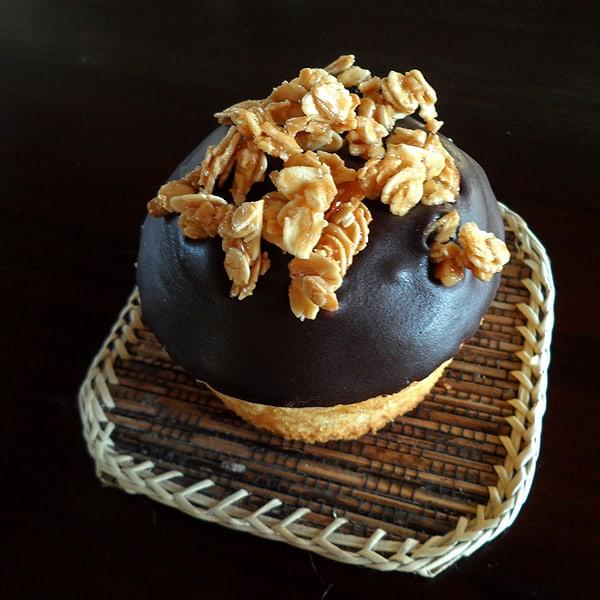 Cupcake with Granola and Chocolate