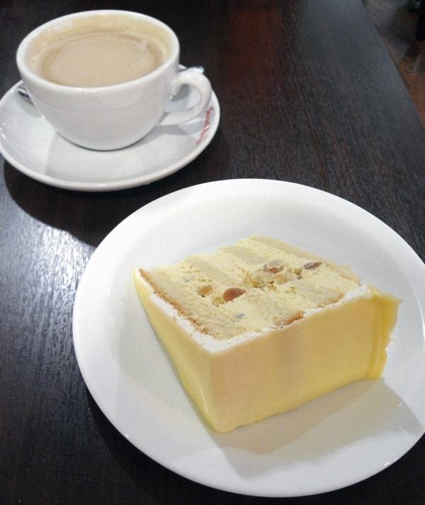 Macadamia Nut White Chocolate Cake