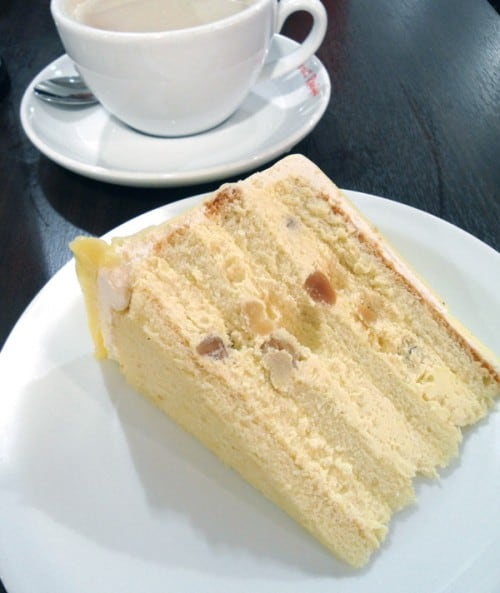 Macadamia White Chocolate Cake