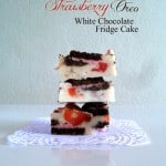 Strawberry Oreo White Chocolate Fridge Cake
