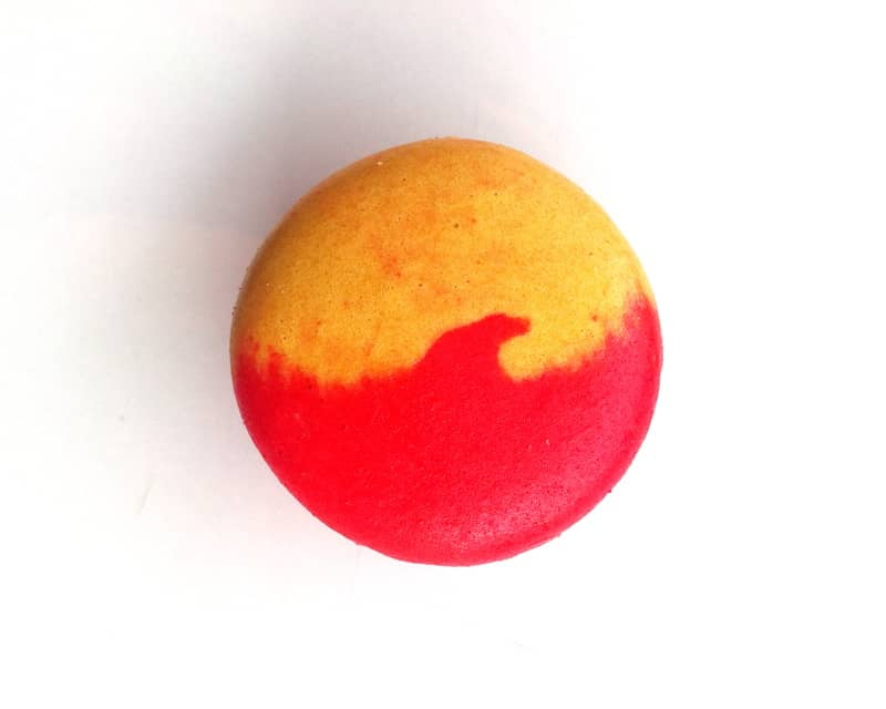 Red and Yellow Macaron Cookie