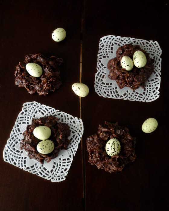 Chocolate Cornflakes Nests with Eggs