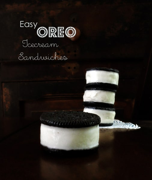 Easy Oreo Icecream Sandwiches