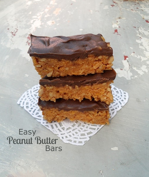 Easy, No-bake Peanut Butter Bars