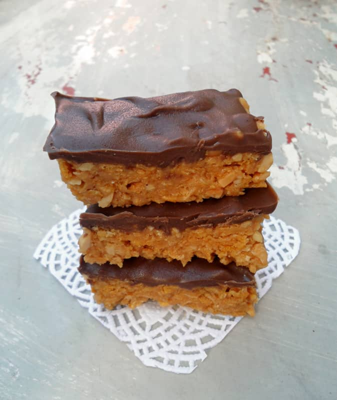 Chocolate Peanut Butter Bar Stack