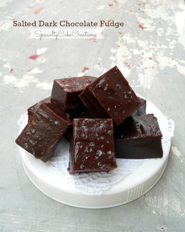 Salted Dark Chocolate Fudge - A perfect combination of sweet and salty. And with the use of sweetened condensed milk this fudge is a breeze to make