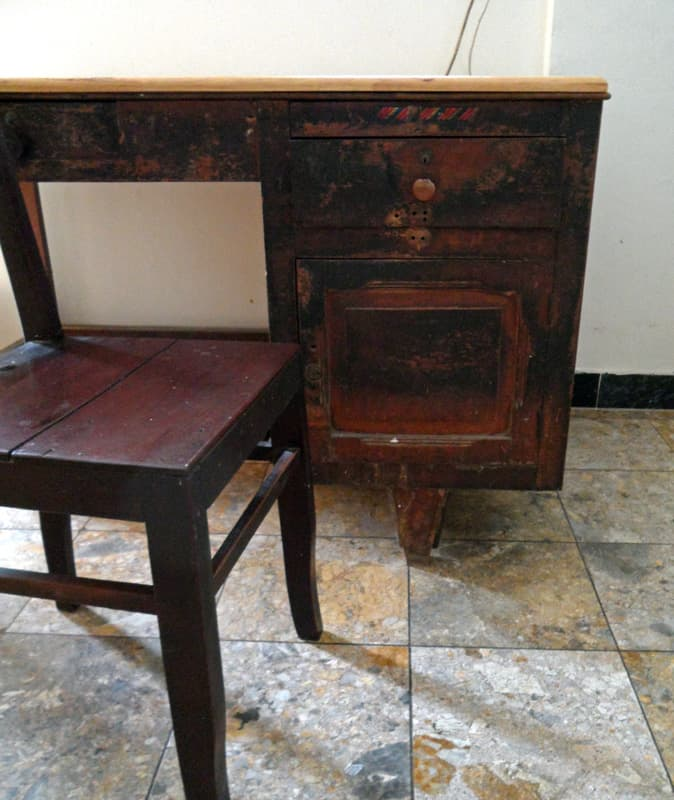 Vintage Desk in Moody Photography