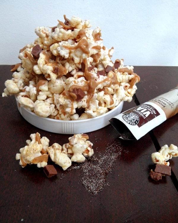 Mocha Popcorn Munch from @specialtycake with @starbucks VIA Ready Brew Mocha