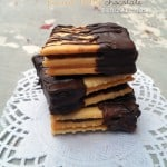Saltine Peanut Butter Chocolate Sandwiches
