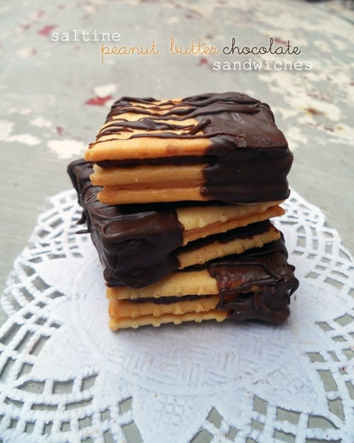 Saltine Peanut Butter Chocolate Sandwiches from SpecialtyCakeCreations