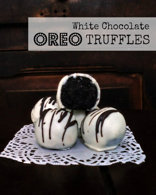 White Chocolate Oreo Truffles | leelalicious.com