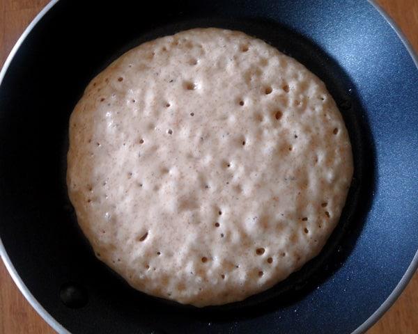 Bubbling Whole Wheat Pancake