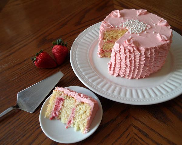 Strawberry Cream Cheese Layer Cake