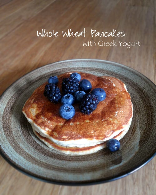 Pancakes with Greek Yogurt