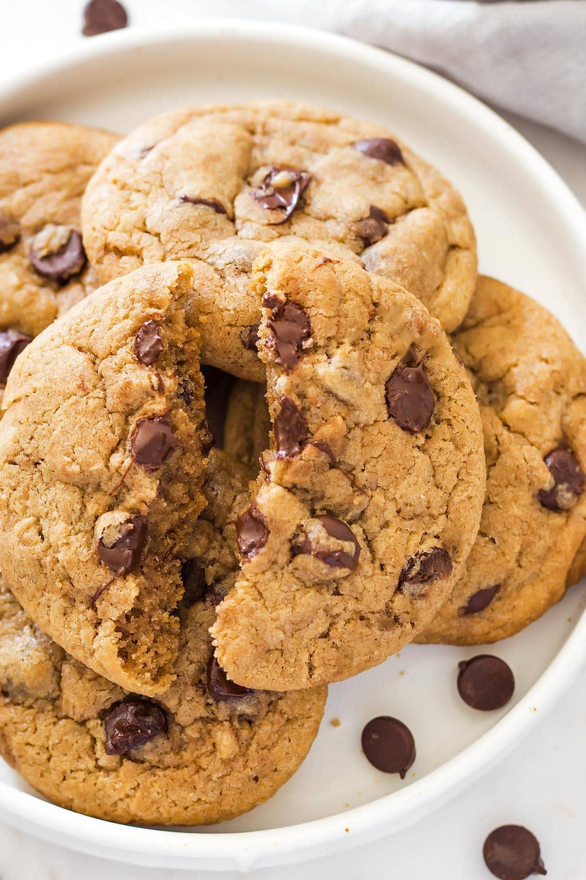 Cookie broken in half