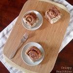 Crispy Healthier Cinnamon Buns