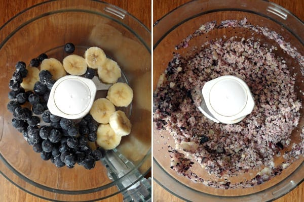 Blending the Banana Blueberry Whip