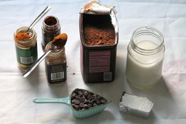 Mexican Chocolate Pops Ingredients