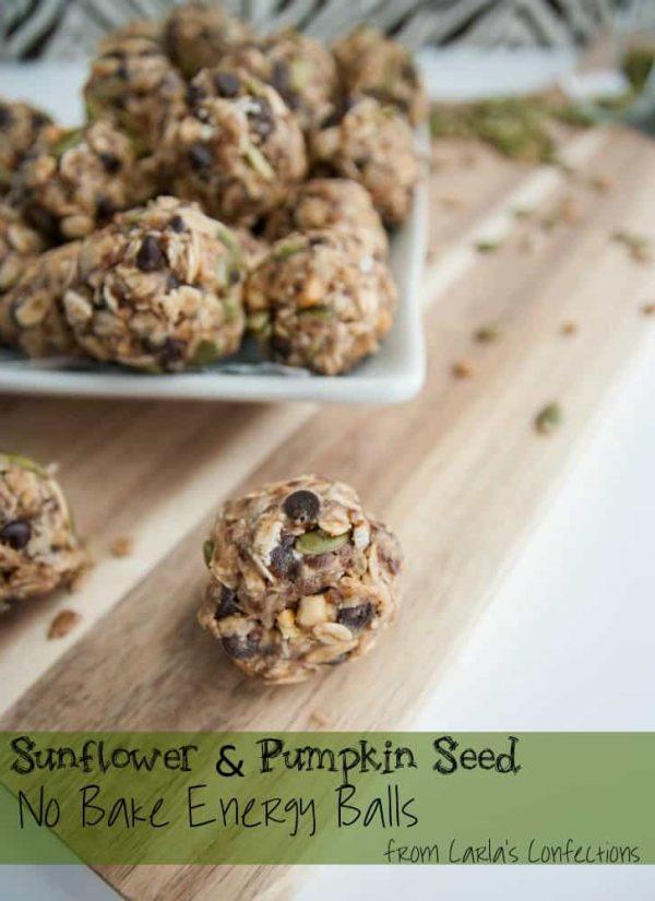 Sunflower & Pumpkin Seed No Bake Energy Balls