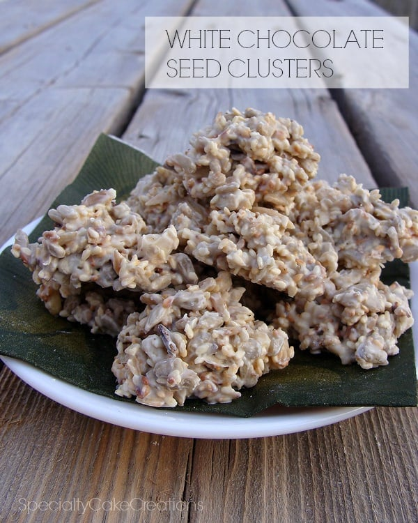 White Chocolate Seed Clusters | leelalicious.com #nobakeparty