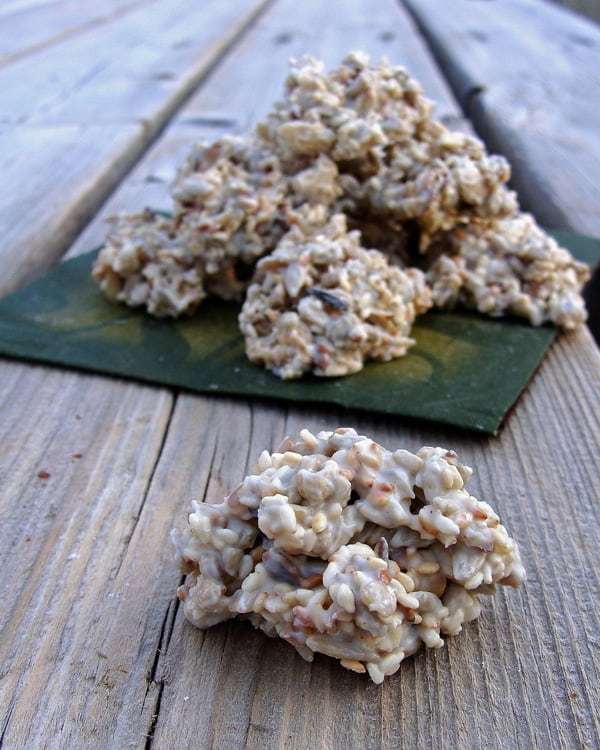 White Chocolate Seed Clusters Close-up