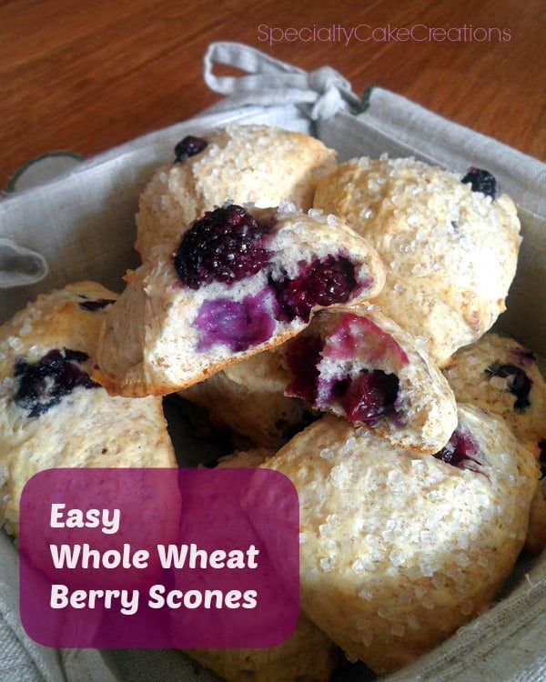 Easy Whole Wheat Berry Scones
