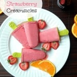 Boozy Strawberry Creamsicles