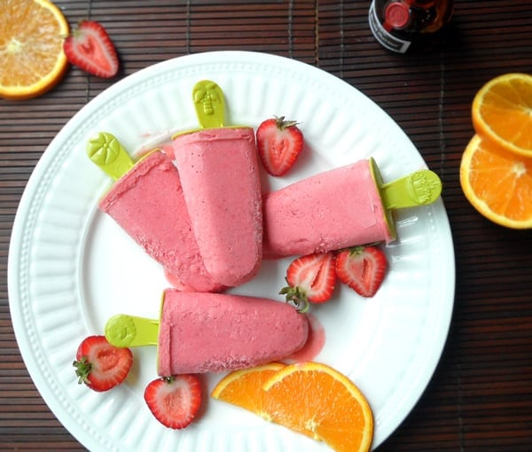Creamy Strawberry Popsicles