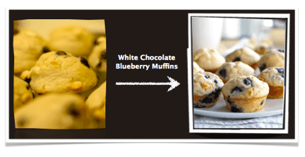 White Chocolate Blueberry Muffins