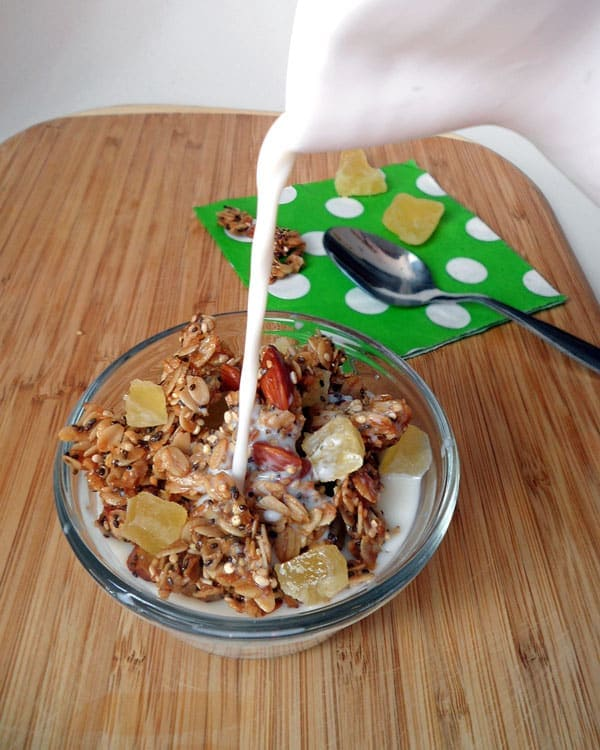Tropical Granola with Milk