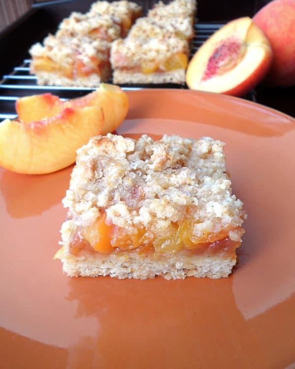 Peach Bars with Whole Wheat