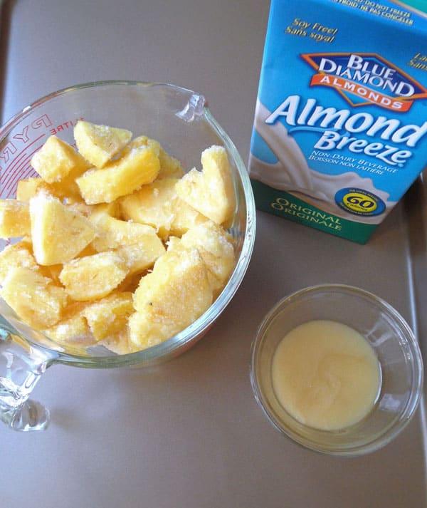 Pineapple Whip - Soft Serve-like Frozen Dessert from leelalicious.com