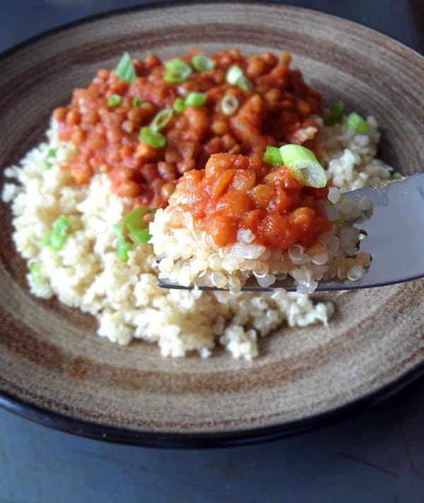 Thai Lentil Curry with Quinoa