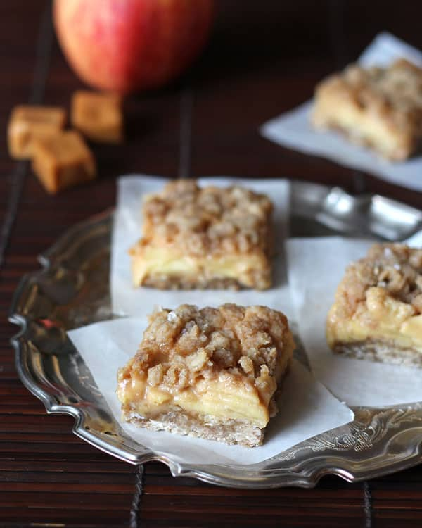 Apple Pie Bars on Platter