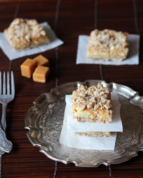 Silver Platter of Apple Bars