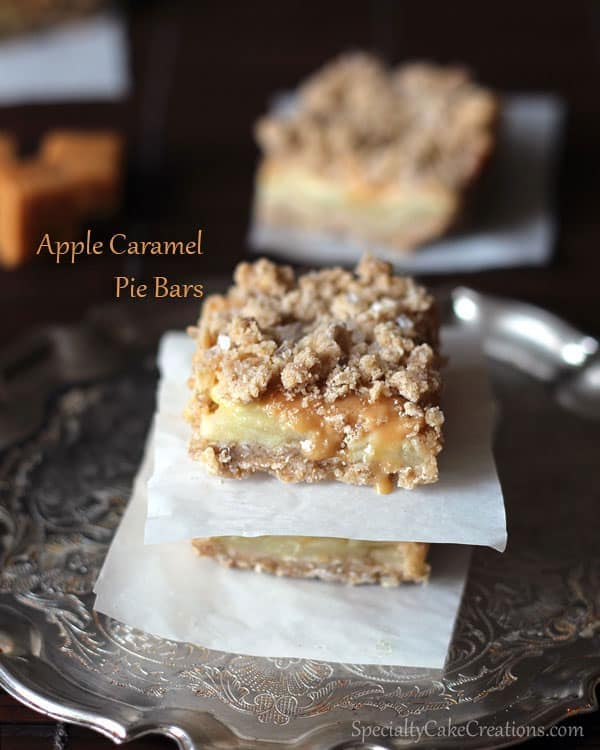 Apple Caramel Pie Bar Stack
