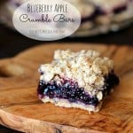 Blueberry Apple Crumble Bars