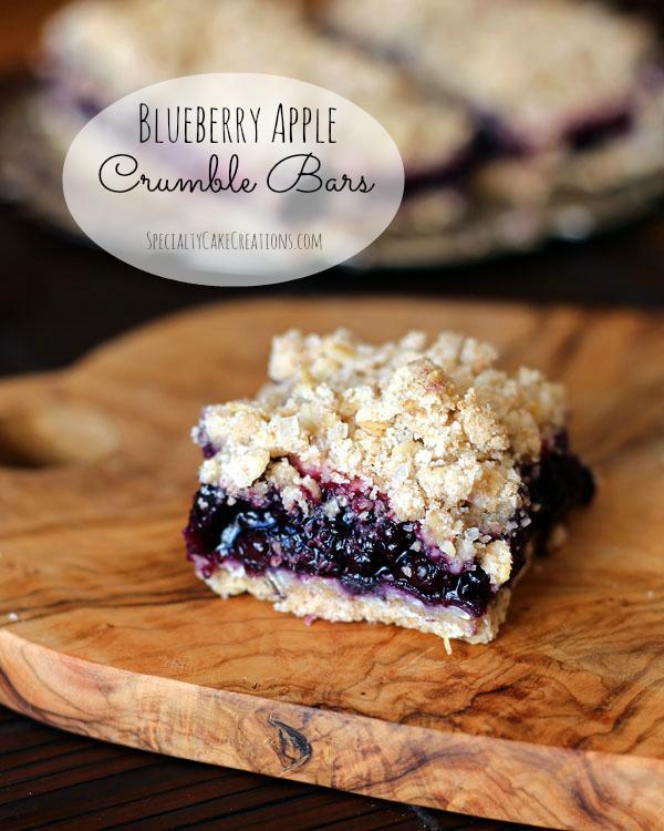 Blueberry Apple Crumble Bars | leelalicious.com