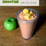 Carrot Mango Apple Smoothie with Chia Seeds