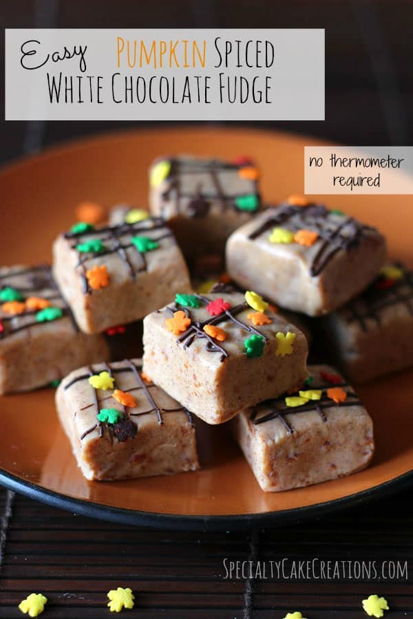 Easy Pumpkin Spiced Fudge | leelalicious.com