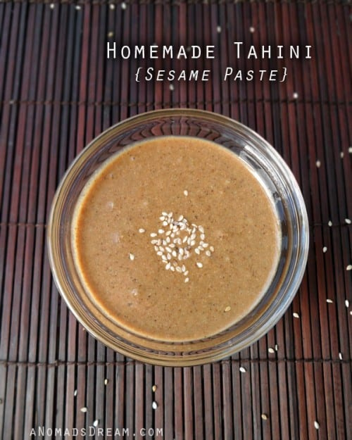 Homemade Tahini Sesame Paste